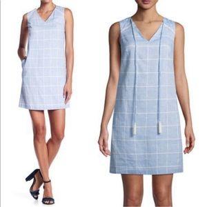 Final Price Julia Jordan Blue Windowpane  Dress